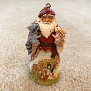 Jim Shore woodland Santa ornament